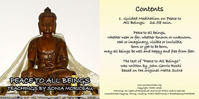 peace to all beings cd cover pic